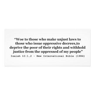 Aflicción a los que hacen el 10 1 injusto de Isaía Invitacion Personalizada