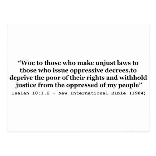 Aflicción a los que hacen el 10:1 injusto de Isaía Postal