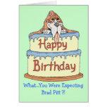 Afloramiento del cumpleaños tarjeta