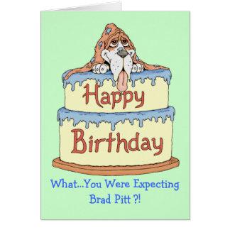 Afloramiento del cumpleaños tarjeta de felicitación