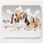 Afloramiento feliz Mousepad de Pascua Alfombrillas De Ratón
