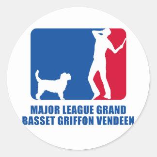 Afloramiento magnífico Griffon Vendeen Etiqueta Redonda
