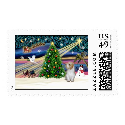 Afloramiento pequeno mágico 3 del navidad sellos