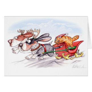 Afloramientos del navidad tarjetón