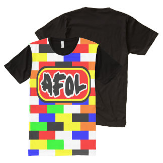 AFOL bright colored Brick wall All-Over Print T-shirt