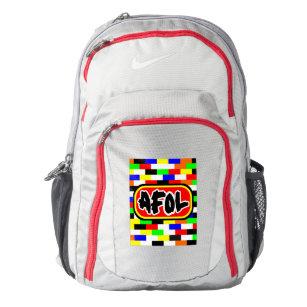 97dd743e8b6b AFOL bright colored Brick wall Nike Backpack
