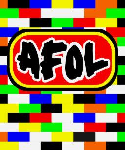 567f3cb7f6ad AFOL bright colored Brick wall T-Shirt