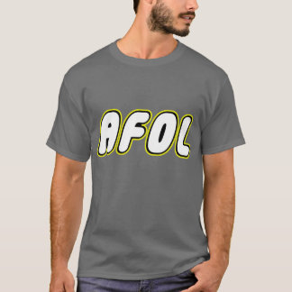 AFOL on front, White Minifig on rear T-Shirt