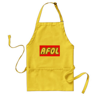 AFOL, Red Background Adult Apron
