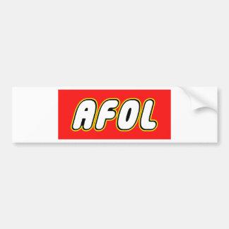 AFOL, Red Background Bumper Sticker