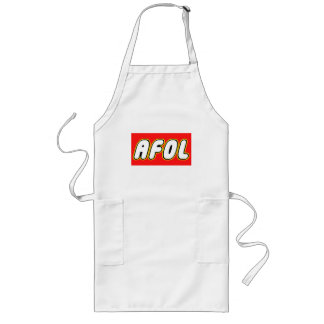 AFOL, Red Background Long Apron