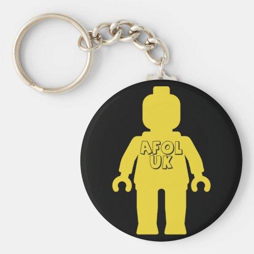AFOL UK Minifig by Customize My Minifig Keychain