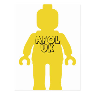 AFOL UK Minifig by Customize My Minifig Postcard