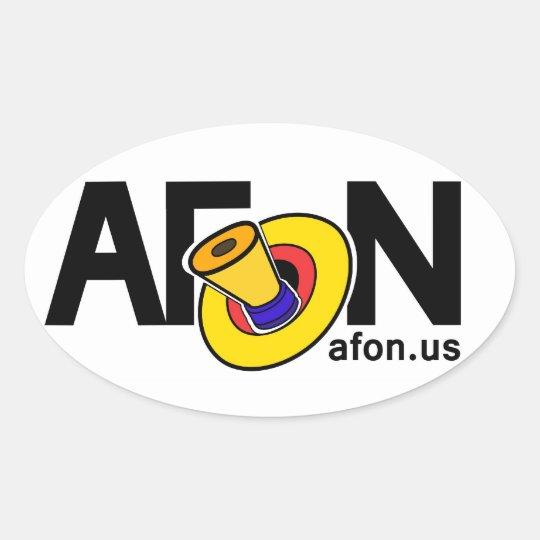 AFoN Logo Oval Sticker