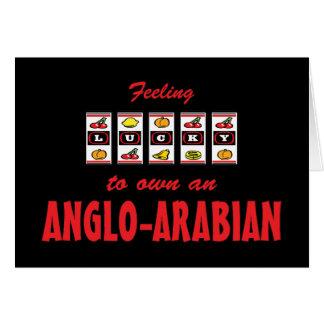 Afortunado a propio un diseño Anglo-Árabe del caba Felicitacion