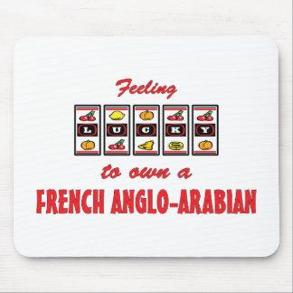 Afortunado a propio un diseño Anglo-Árabe francés  Mousepads