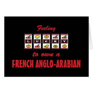 Afortunado a propio un diseño Anglo-Árabe francés  Tarjetas