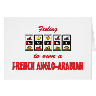 Afortunado a propio un diseño Anglo-Árabe francés  Felicitación