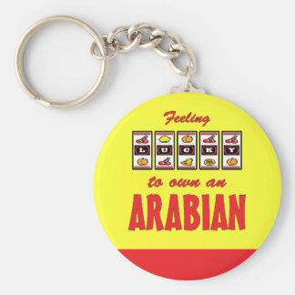 Afortunado a propio un diseño árabe del caballo de llavero redondo tipo pin