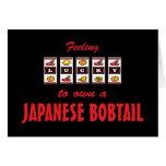 Afortunado a propio un diseño Bobtail japonés del  Tarjetón