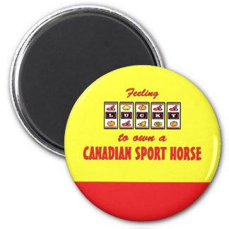 Afortunado a propio un diseño canadiense de la div imán redondo 5 cm