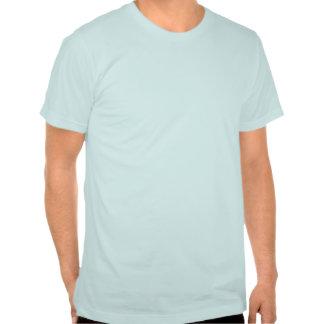 Afortunado a propio un diseño del gato de la camiseta