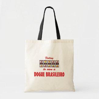 Afortunado a propio un diseño del perro de la dive bolsa tela barata