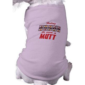 Afortunado a propio un diseño del perro de la dive playera sin mangas para perro