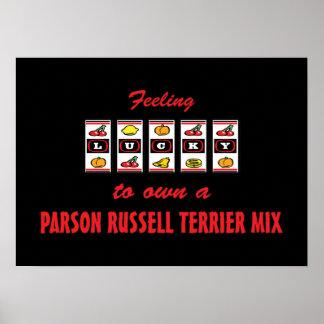 Afortunado a propio una mezcla de Russell Terrier  Póster