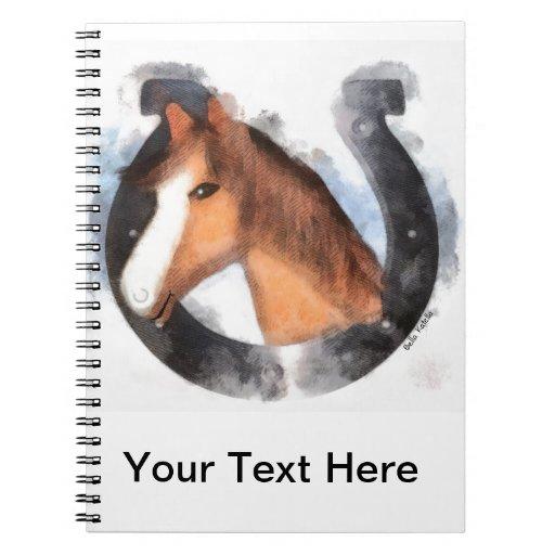 Afortunado el caballo cuaderno