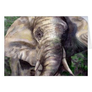 Afortunado el elefante tarjeta pequeña