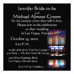 Afortunado en el boda del casino de Las Vegas del  Invitaciones Personales