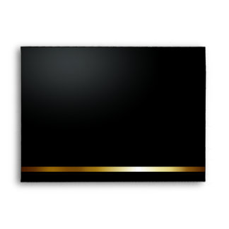 Afortunado en el negro/el oro A7 del amor Sobres