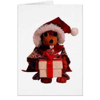 Afortunado la tarjeta del solsticio del castor