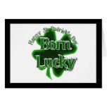 Afortunado nacido - el día de St Patrick feliz Tarjetas