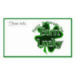Afortunado nacido - el día de St Patrick feliz Tarjeta De Visita