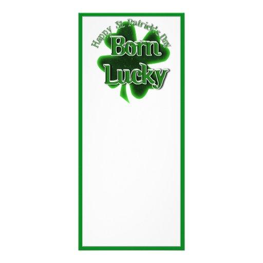 Afortunado nacido - el día de St Patrick feliz Tarjeta Publicitaria Personalizada