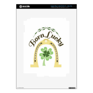 Afortunado nacido iPad 3 pegatinas skins