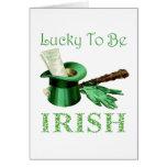 Afortunado para ser irlandés tarjetón