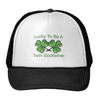 Afortunado para ser padrino gemelo gorras