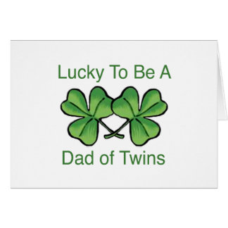Afortunado para ser papá gemelo tarjeta