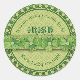 Afortunado para ser pegatina irlandés