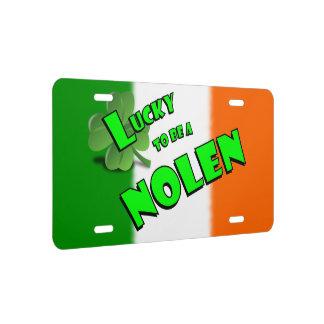 Afortunado para ser un trébol del irlandés de placa de matrícula