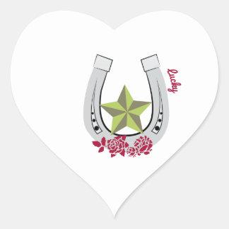 Afortunado Pegatina Corazón Personalizadas