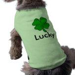 afortunado ropa de perro