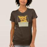Afortunado - una camisa del gatito del supervivien