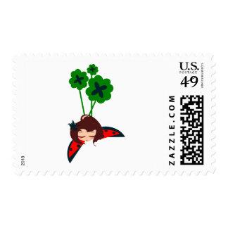afortunado verde franqueo