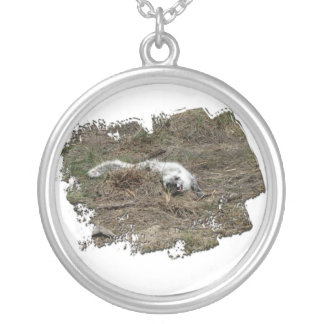 AFOTG Arctic Fox on the Ground Silver Plated Necklace