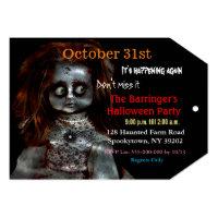 Vip pass invitations zazzle afraid doll scary 2 halloween invitation vip pass filmwisefo