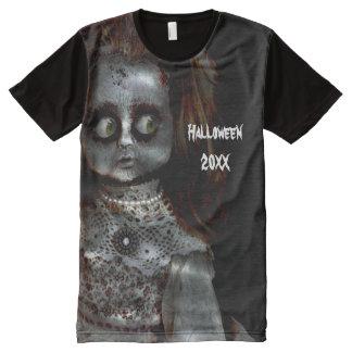 Afraid Doll Scary Halloween All-Over-Print T-Shirt